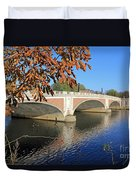 The River Thames At Hampton Court London Duvet Cover