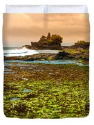 The Tanah Lot Temple - Bali - Indonesia Duvet Cover