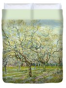 The White Orchard Duvet Cover