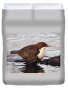 The White-throated Dipper Duvet Cover