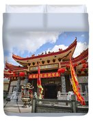 Thien Hau Temple A Taoist Temple In Chinatown Of Los Angeles. Duvet Cover