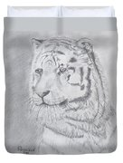Tiger Watching Duvet Cover