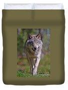 Timber Wolf  Duvet Cover