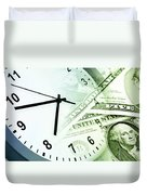 Time Is Money Duvet Cover by Les Cunliffe