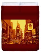 42nd Street And Times Square Manhattan Duvet Cover