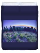 Top Of Mount Mitchell After Sunset Duvet Cover