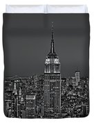 Top Of The Rock Bw Duvet Cover