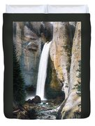 Tower Falls Yellowstone National Park Duvet Cover
