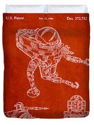 Toy Space Vehicle Patent Duvet Cover