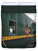 Tpw Rr Caboose Side View Duvet Cover