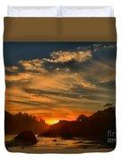 Trinidad Beach Sunset Duvet Cover by Adam Jewell