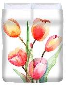 Tulips Flowers Duvet Cover