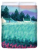 Turquoise Meadow Duvet Cover