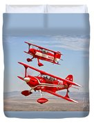 Two Pitts Special S-2a Aerobatic Duvet Cover