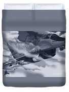 Two-tailed Tomcat Duvet Cover