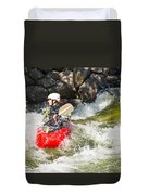 Two Whitewater Kayaks Duvet Cover
