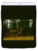Two Young Bucks Duvet Cover