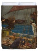 Ulysses And The Sirens Duvet Cover