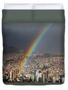 Urban Rainbow La Paz Bolivia Duvet Cover