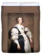 Van Dyck's Lady With A Fan Duvet Cover