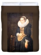 Van Dyck's Portrait Of A Flemish Lady Duvet Cover