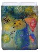 Vase Of Flowers Duvet Cover by Odilon Redon
