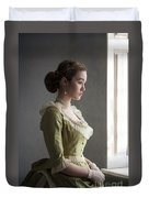 Victorian Woman At The Window Duvet Cover