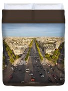 View Over Champs Elysees Duvet Cover