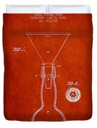 Vintage Bottle Neck Patent From 1891 Duvet Cover