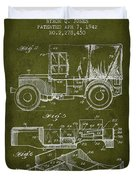 Vintage Military Vehicle Patent From 1942 Duvet Cover