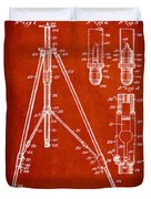 Vintage Tripod Patent Drawing From 1941 Duvet Cover by Aged Pixel