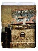 Vintage Trunks #1 Duvet Cover