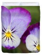 Viola Named Sorbet Lemon Blueberry Swirl Duvet Cover