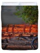 Wagons East Duvet Cover by Gunter Nezhoda