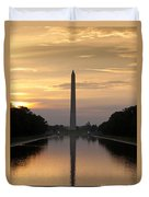 Washington Monument Sunrise Duvet Cover