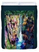 Water Falls Duvet Cover