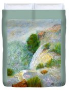 Waterfall In The Mist Duvet Cover