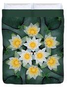 Waterlily Mandala Duvet Cover
