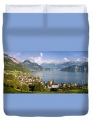 Weggis Switzerland Duvet Cover