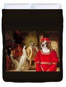 Welsh Springer Spaniel Art Canvas Print  Duvet Cover