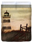 West Point Lighthouse Duvet Cover
