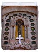 White Cross At St Sophia Duvet Cover