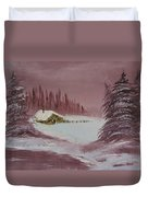 Whose Woods Duvet Cover