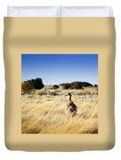Wild Emu Duvet Cover by Tim Hester