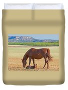 Wild Horses Mother And Foal Duvet Cover