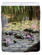 Wild Water Lilies In The River Duvet Cover