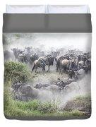Wildebeest Migration 1 Duvet Cover