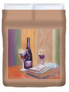 Wine And Blue Cheese Duvet Cover
