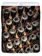 Wine Bottles Duvet Cover by Elena Elisseeva