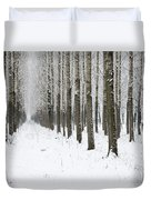 Winter Alley Duvet Cover